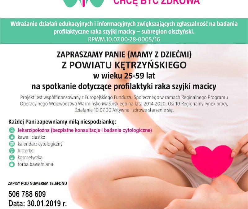 Profilaktyka raka szyjki macicy – spotkanie w Nakomiadach